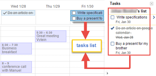 how to add a task in google calendar