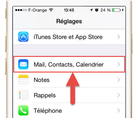 iPhone-mail-contacts-calendrier