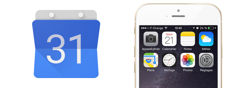 Synchroniser Google Agenda sur iPhone