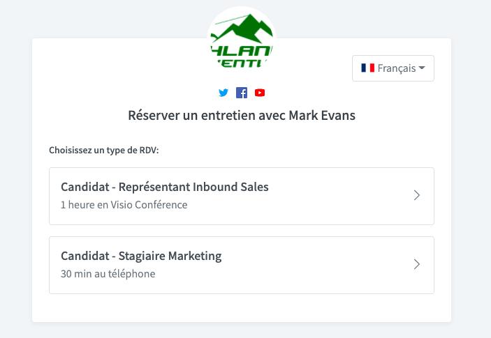 Créez et partagez vos types d'évènement sur votre page de prise de rendez-vous Vyte